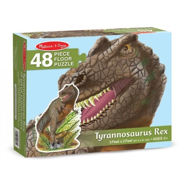 Gigant T-rex gulvpuslespil 48 brikker fra Melissa and Doug-31