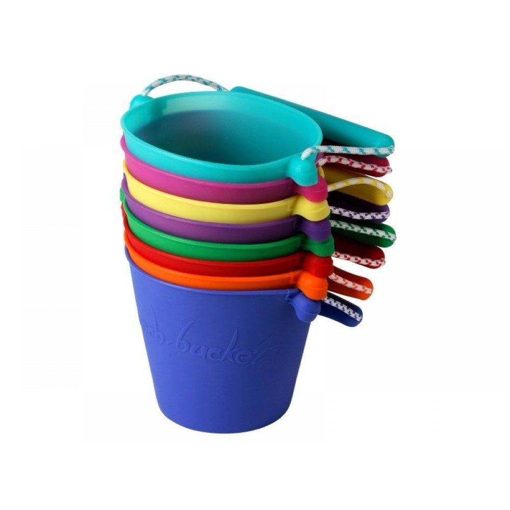Scrunch-Bucket, blød foldbar spand i sort fra Funkit World-31