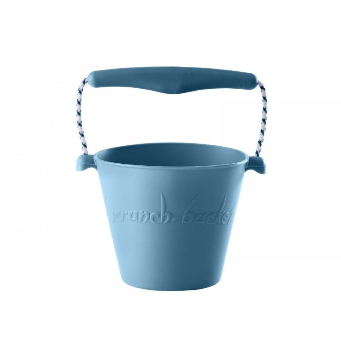 Scrunch-Bucket, blød foldbar spand i støvet blå fra Funkit World-31