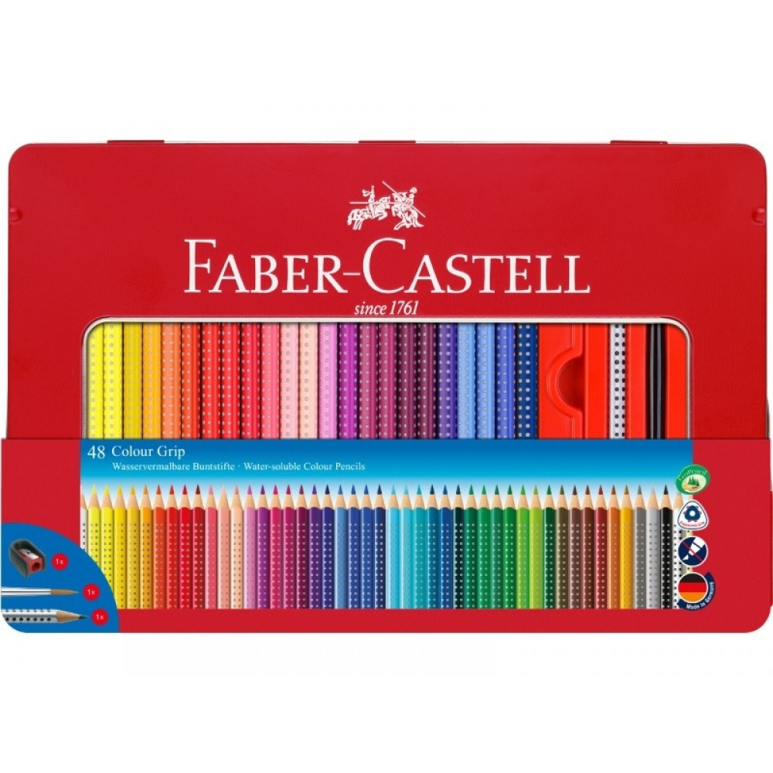 Faber-Castell grip farveblyanter i metalæske, 48 stk-31