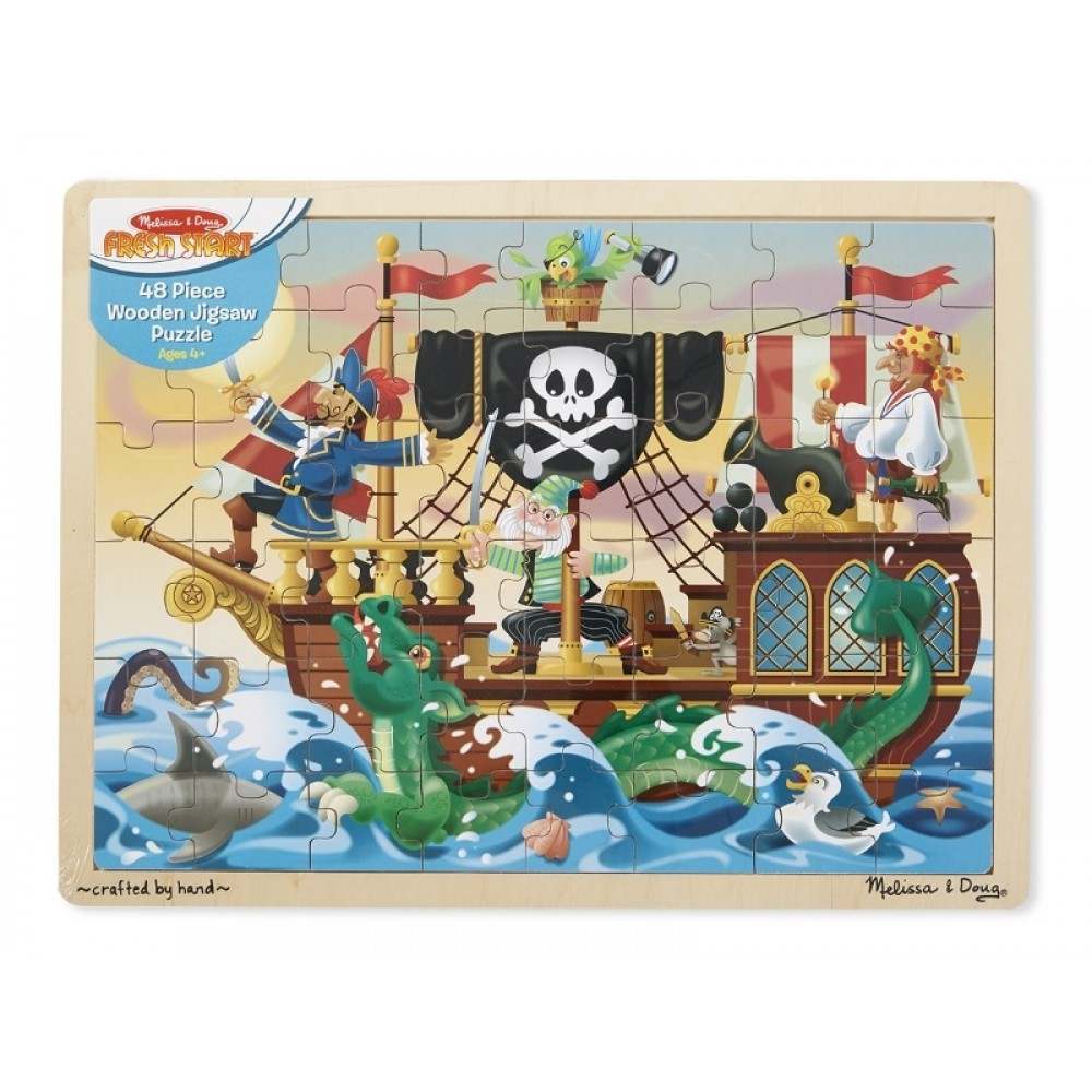 Træpuslespil Piratskib fra Melissa and Doug-31