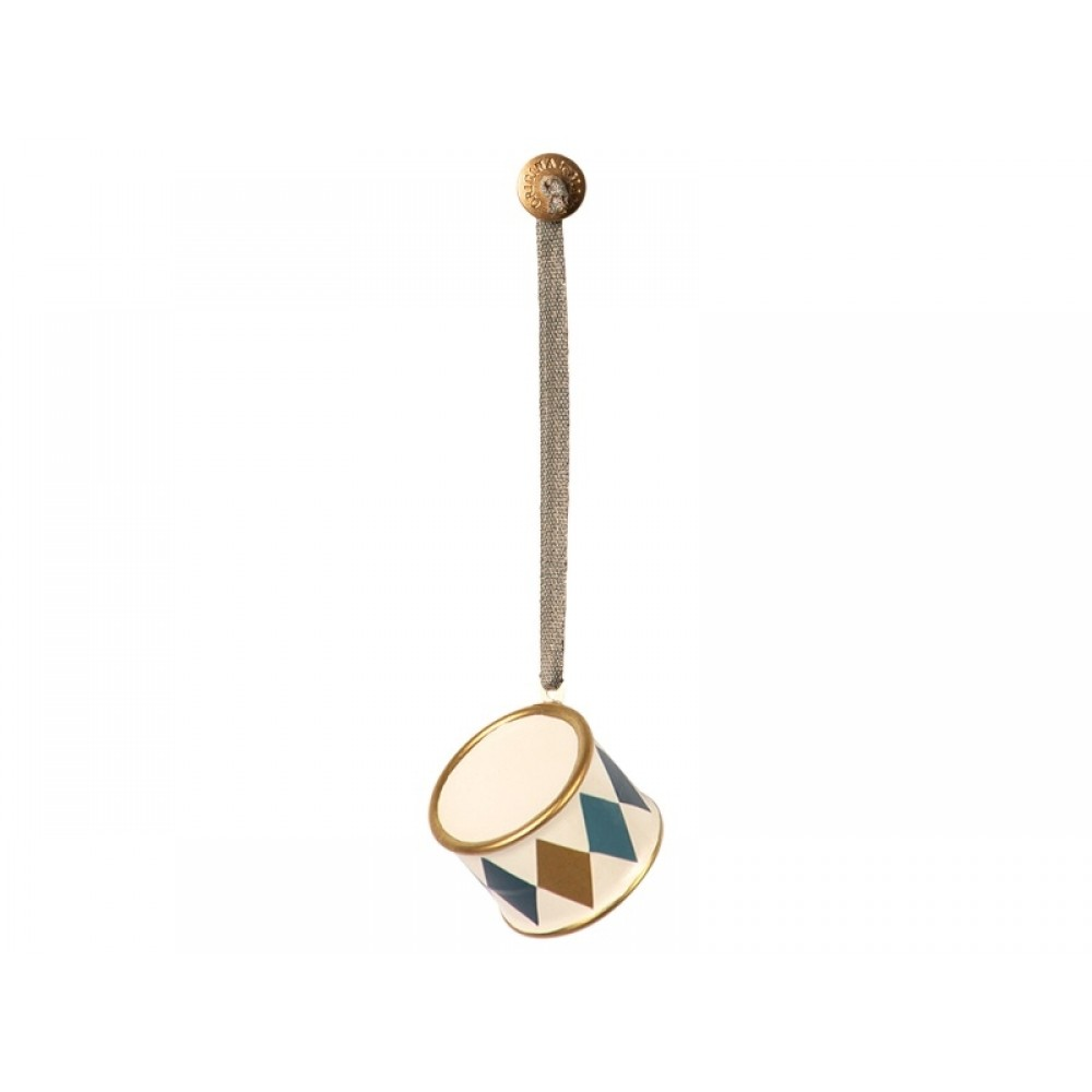 Maileg, Ornament, Tromme i metal Guld-31