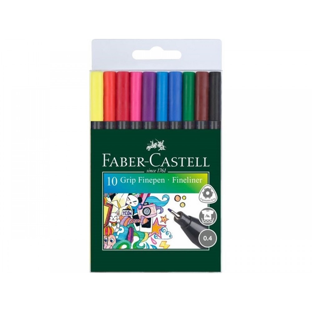 Faber-Castell finelin tusser 0,4 mm, 10 stk-31