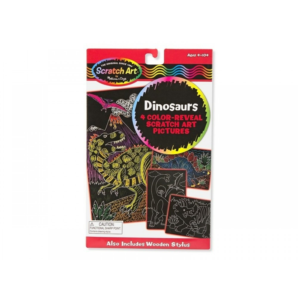 Melissa and Doug Scratch Art, Skrabekunst med dinosaur-31
