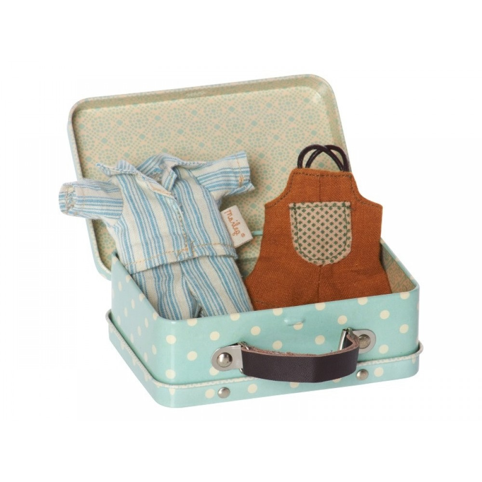 Kuffert til mikro drengemus og kaniner inkl. 2 sæt tøj fra Maileg-31