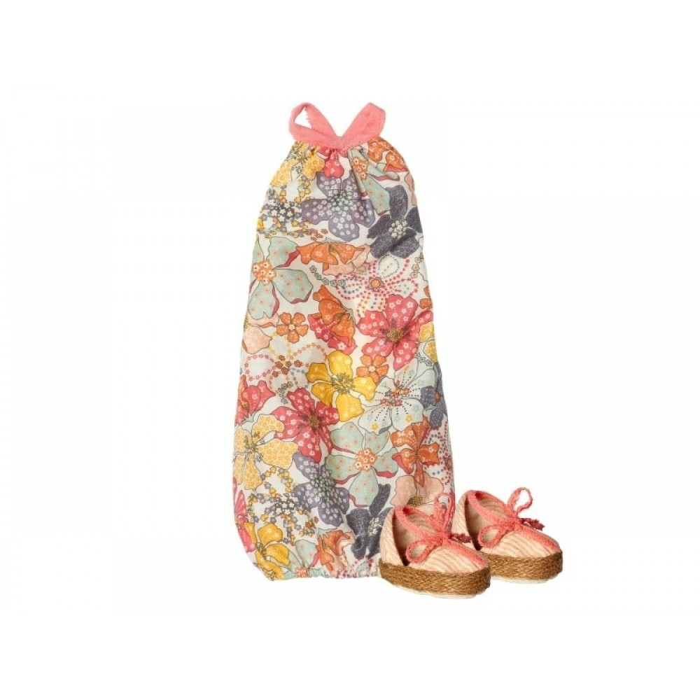 Ballonkjole med blomster og sko til medium kanin fra Maileg-31