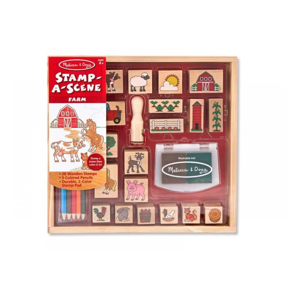 Melissa and Doug Stempelsæt – Bondegårds tema-31
