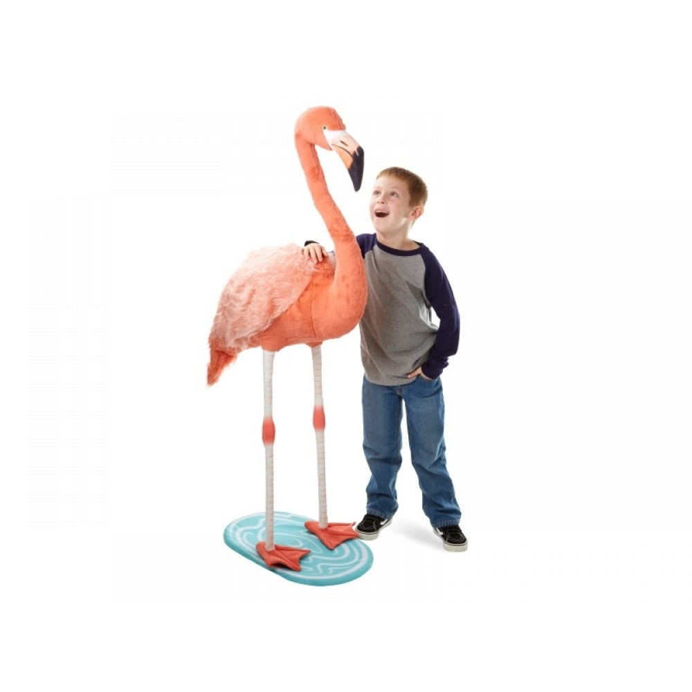 Flamingo kæmpe bamse Melissa and Doug-32
