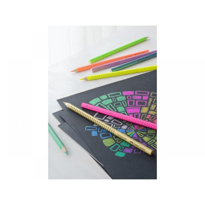 Faber-Castell Farveblyanter Pastel, Neon, Metallic 12 stk.-31