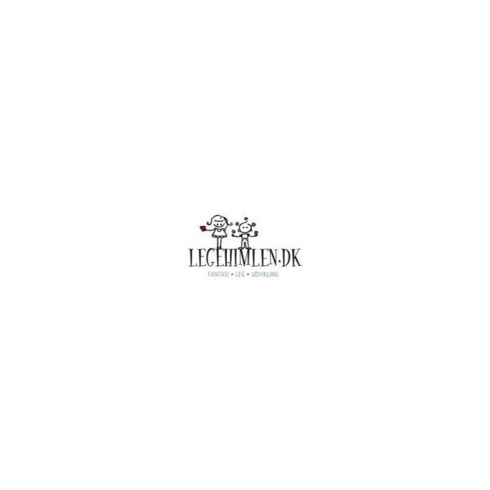 Así Leonora dukke Rød og gråblomstret kjole-31