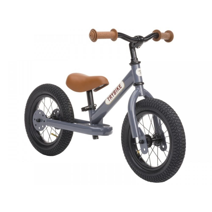Trybike Løbecykel 2-hjulet i Retrolook, Antracitgrå-31