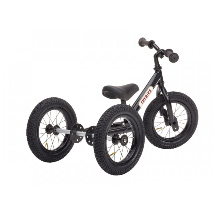 Løbecykel 3-hjulet i Retrolook, Sort Trybike-31