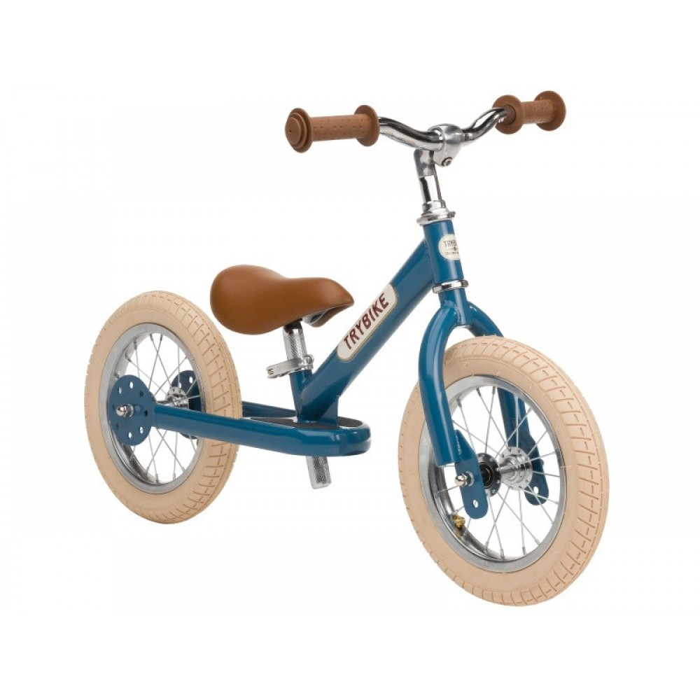 Trybike Løbecykel 2 hjulet Vintage Blå-31