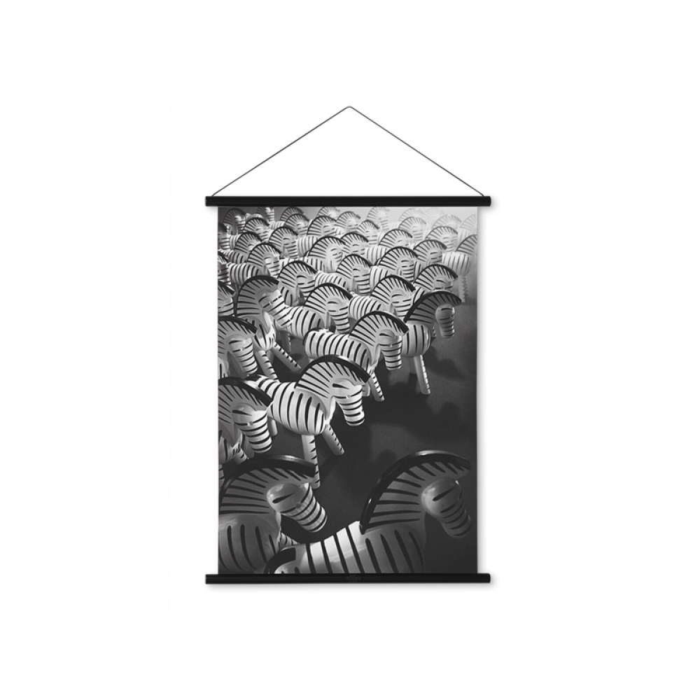 Kay Bojesen Zebra foto 40x56 cm, sortbejdset træ profil-31