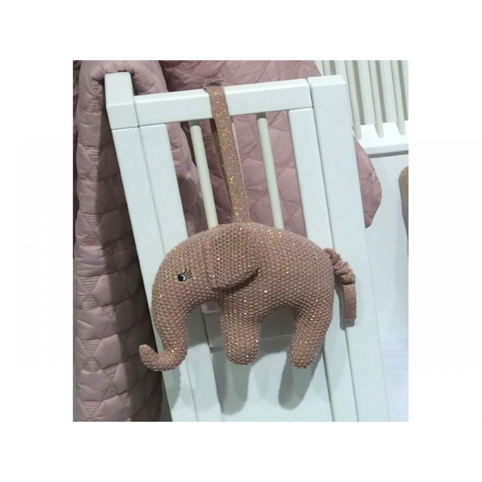 Smallstuff Musikuro Elefant Rosa/Guld-31