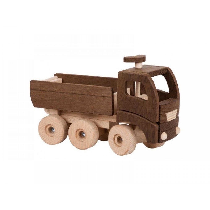 Goki Dumper, lastbil i træ natur-31