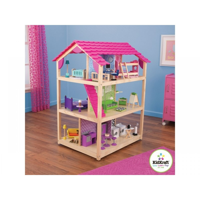 KidKraft Trendy dukkehus. Tosidet og fuldt møbleret (BESTILLINGSVARE KAN FORUDBESTILLES)-31
