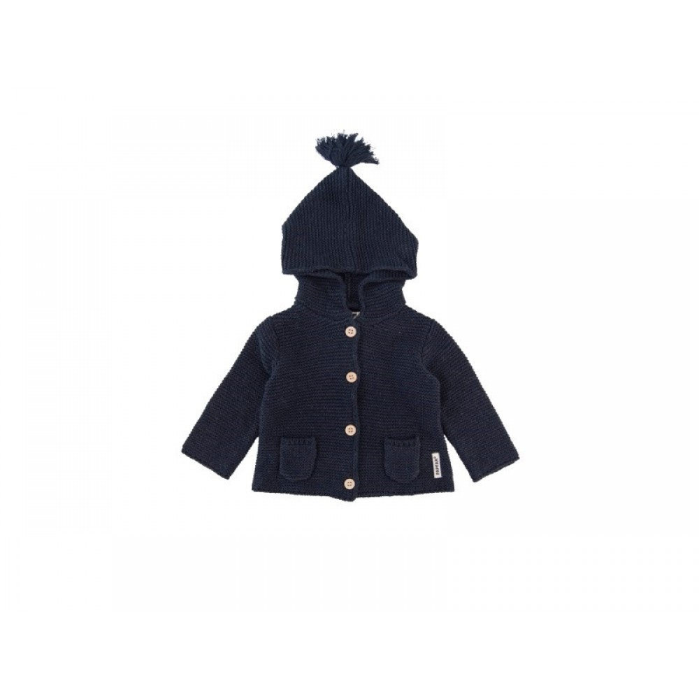 Papfar Strikcardigan Navy-31