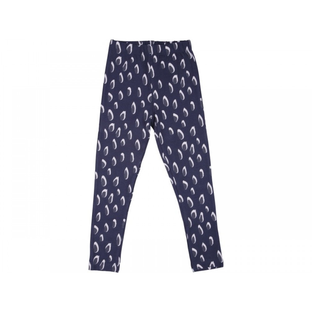 Papfar Leggings Junior m. Mønster Navy-31