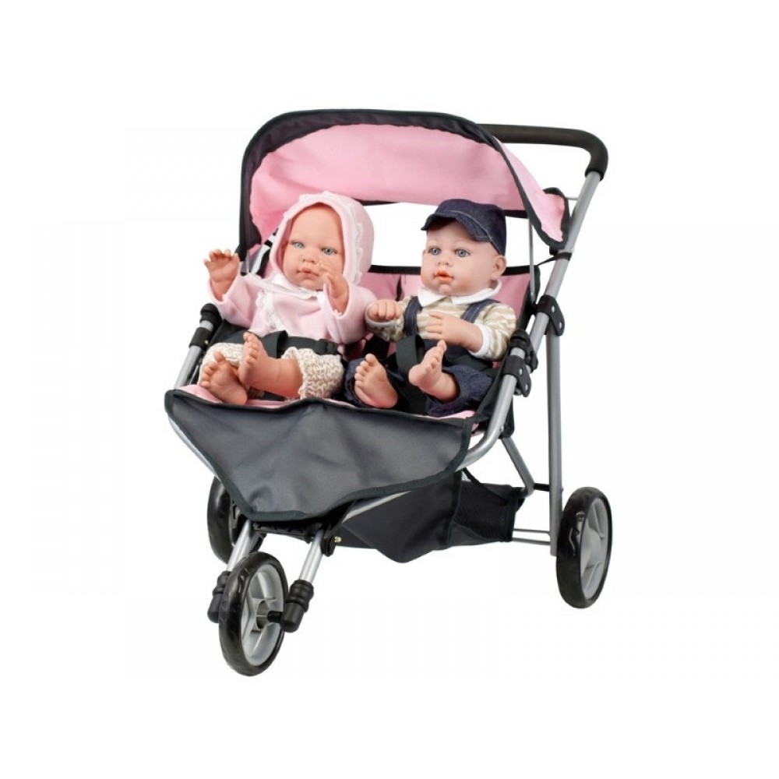 Dukke tvillinge klapvogn Mini Mommy-31