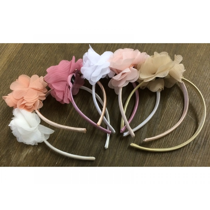 Hårbøjle med blomst Vælg selv farve-31