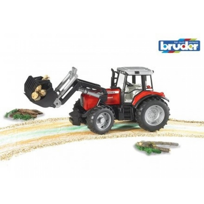 Bruder Massey Ferguson Traktor m. frontlæsser-31