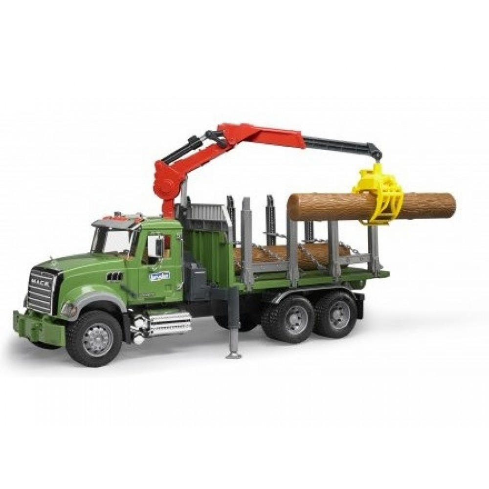 Bruder Mack Granite Tømmerlastbil Med Kran-31