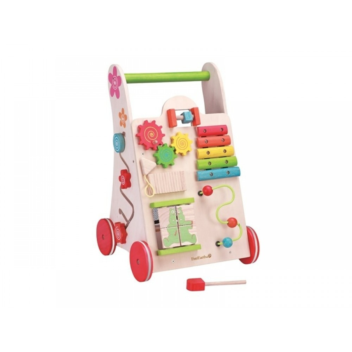 EverEarth Gåvogn aktivitetsgåvogn, økologisk legetøj-31