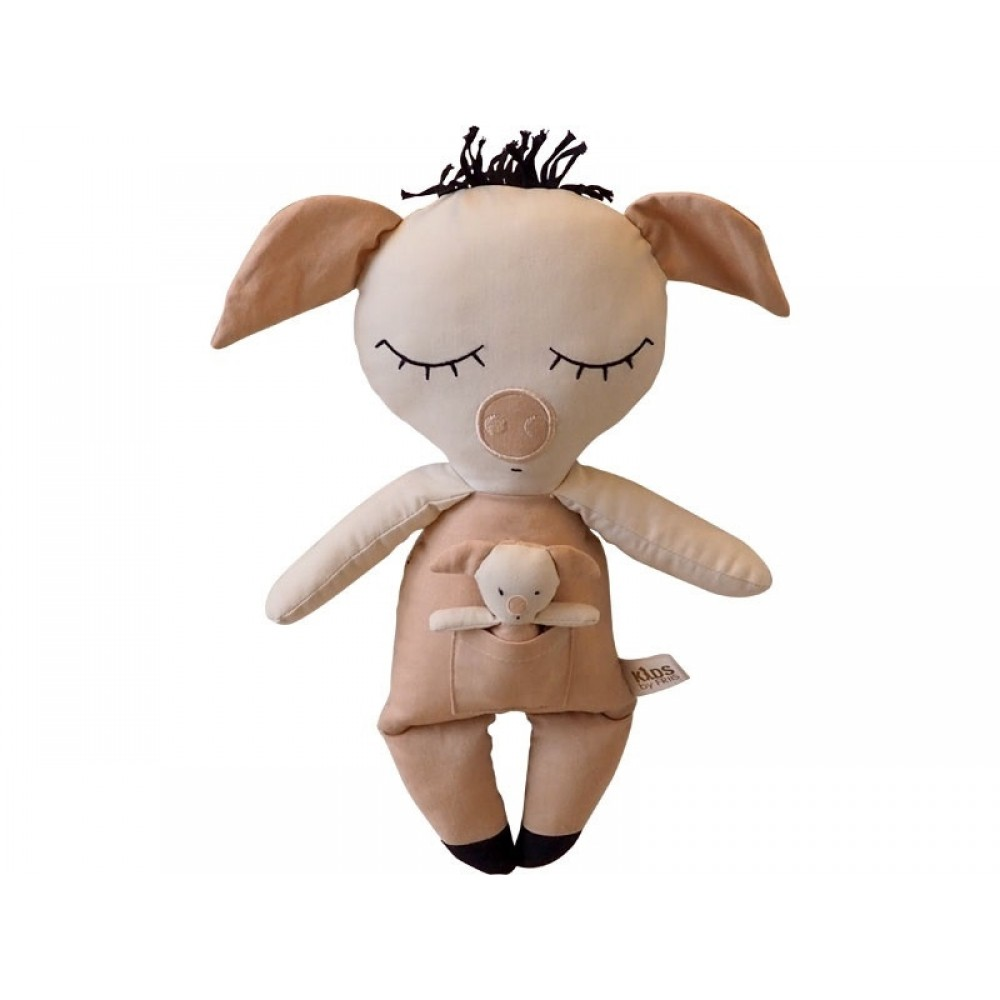 Bamse, Gris m. baby Kids by Friis-31