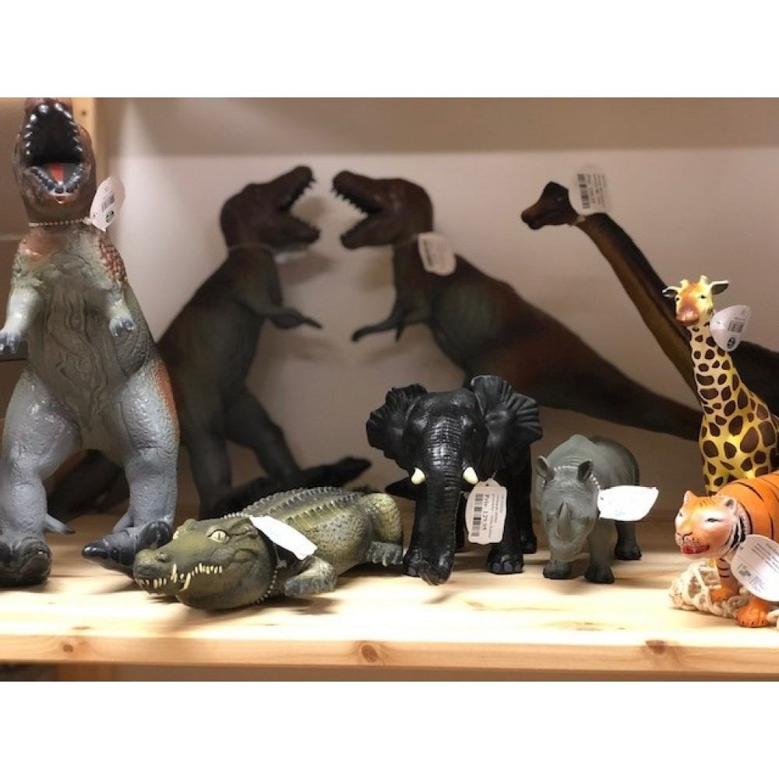 Afrikansk elefant gummidyr Green Rubber Toys-31