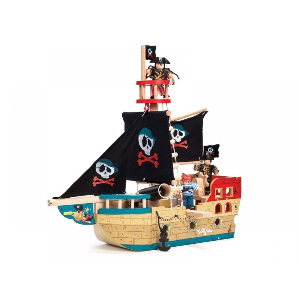 Piratskib Jolly fra Le Toy Van-31