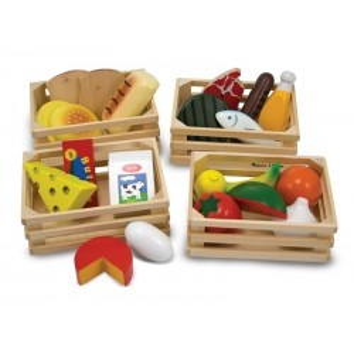Trælegemad 4 kasser med mad fra Melissa and Doug-20
