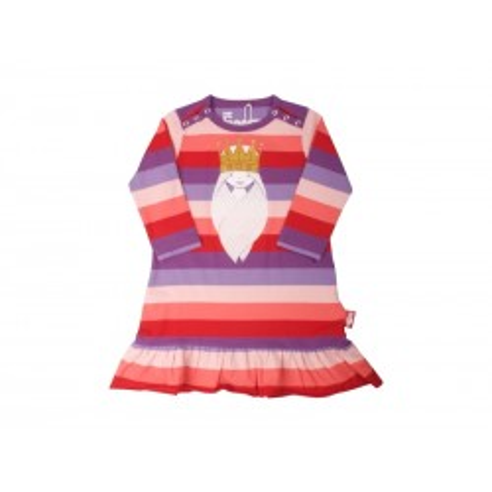 Danefæ Sille baby kjole med Prinsesse Freja Lilla/røde striber-20