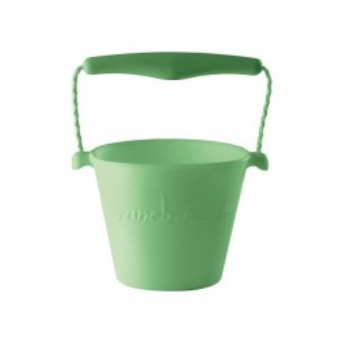 Scrunch-Bucket, blød foldbar spand i lysegrøn fra Funkit World-20