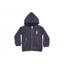 Danefæ Hættetrøje Big Daddy Zip Up Navy/Broken White-20
