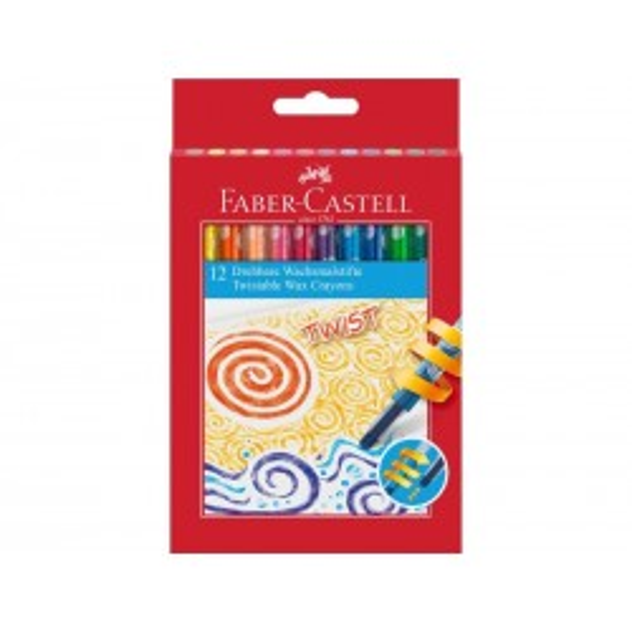 Faber-Castell Jumbo Twist Farvekridt, 12 stk.-20