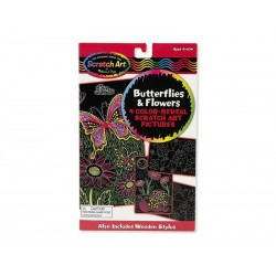 Melissa and Doug Scratch Art, Skrabekunst med Sommerfugle-20