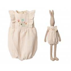 Maileg Jumpsuit Off white til Bunny size 5-20