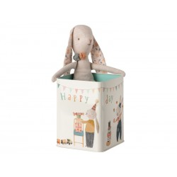 Maileg Happy Day Bunny i metal dåse Medium-20