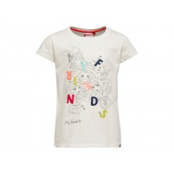 T-shirt LEGO Friends med print fra LEGO Wear Råhvid-20
