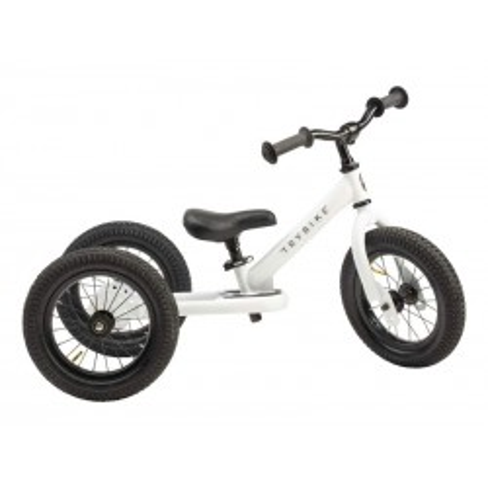 Trybike Løbecykel 3-hjulet i Retrolook Hvid-20