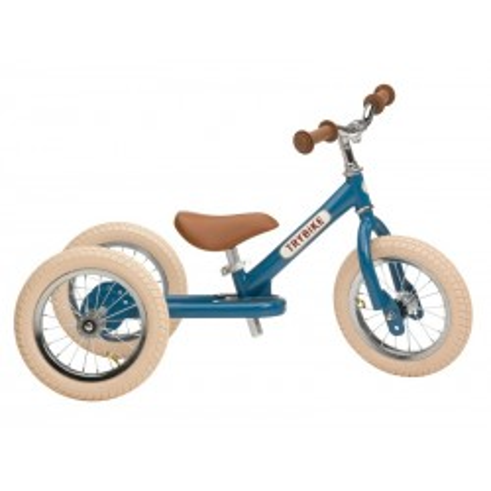 Trybike 3-hjulet løbecykel, Vintage Blå-20