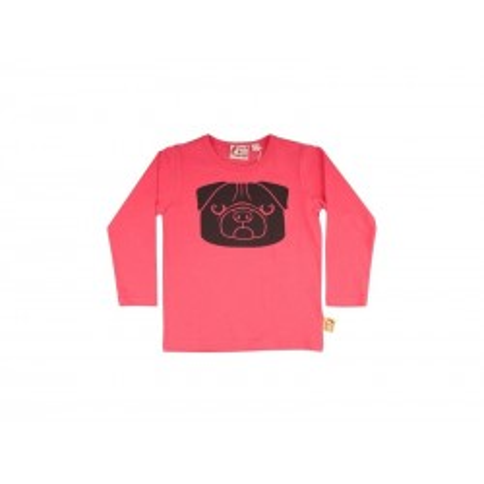 DYR Bluse med mops Pink-20