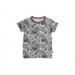 DYR T-shirt Grå All-Over Jungleprint-20
