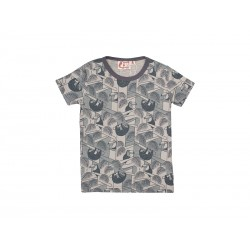 DYR T-shirt m. All-Over Jungleprint Grå-20