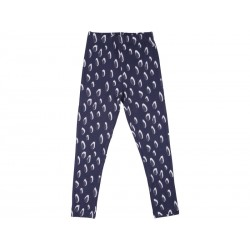 Papfar Leggings Junior m. Mønster Navy-20
