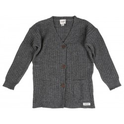 Papfar Strikket Cardigan Junior Navy-20