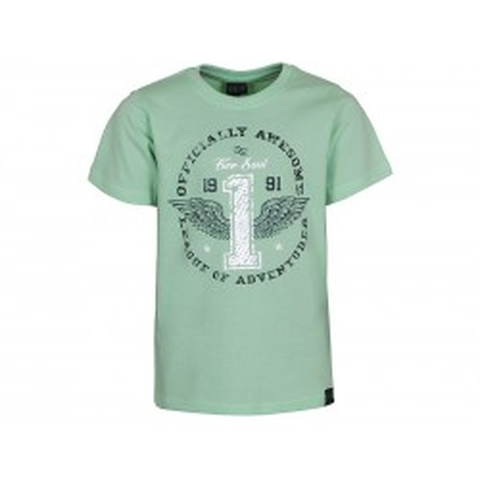 Kids Up Drenge T-shirt m. Print Grøn-20