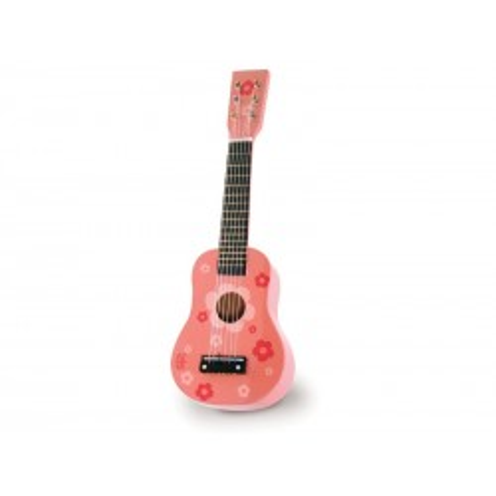 Vilac Guitar i lyserød med blomster-21