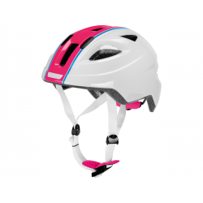 Cykelhjelm i hvid/pink, M PUKY-20